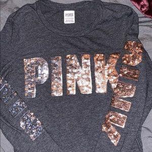 Long sleeve/Victoria's Secret shirt/Bling